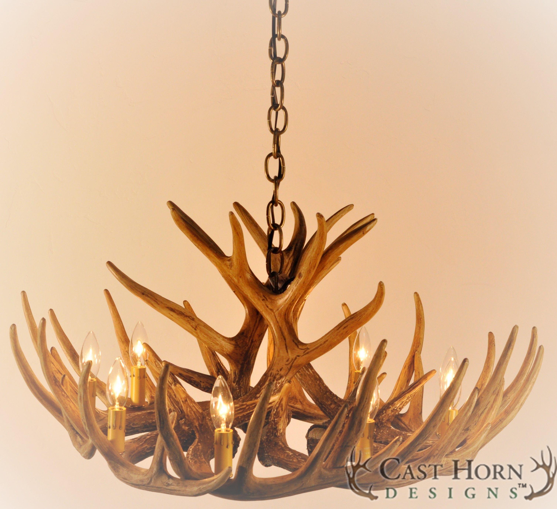 Whitetail Deer 12 Antler Cascade Chandelier By Cast Horn Designs Antler Chandelier Ceiling Fans For Sale Rustic Chandelier