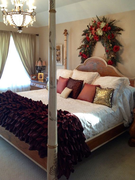 Chocolate Brown Ruffled Bedding My Work Pinterest Ruffle Bedding Bedrooms And Master Bedroom
