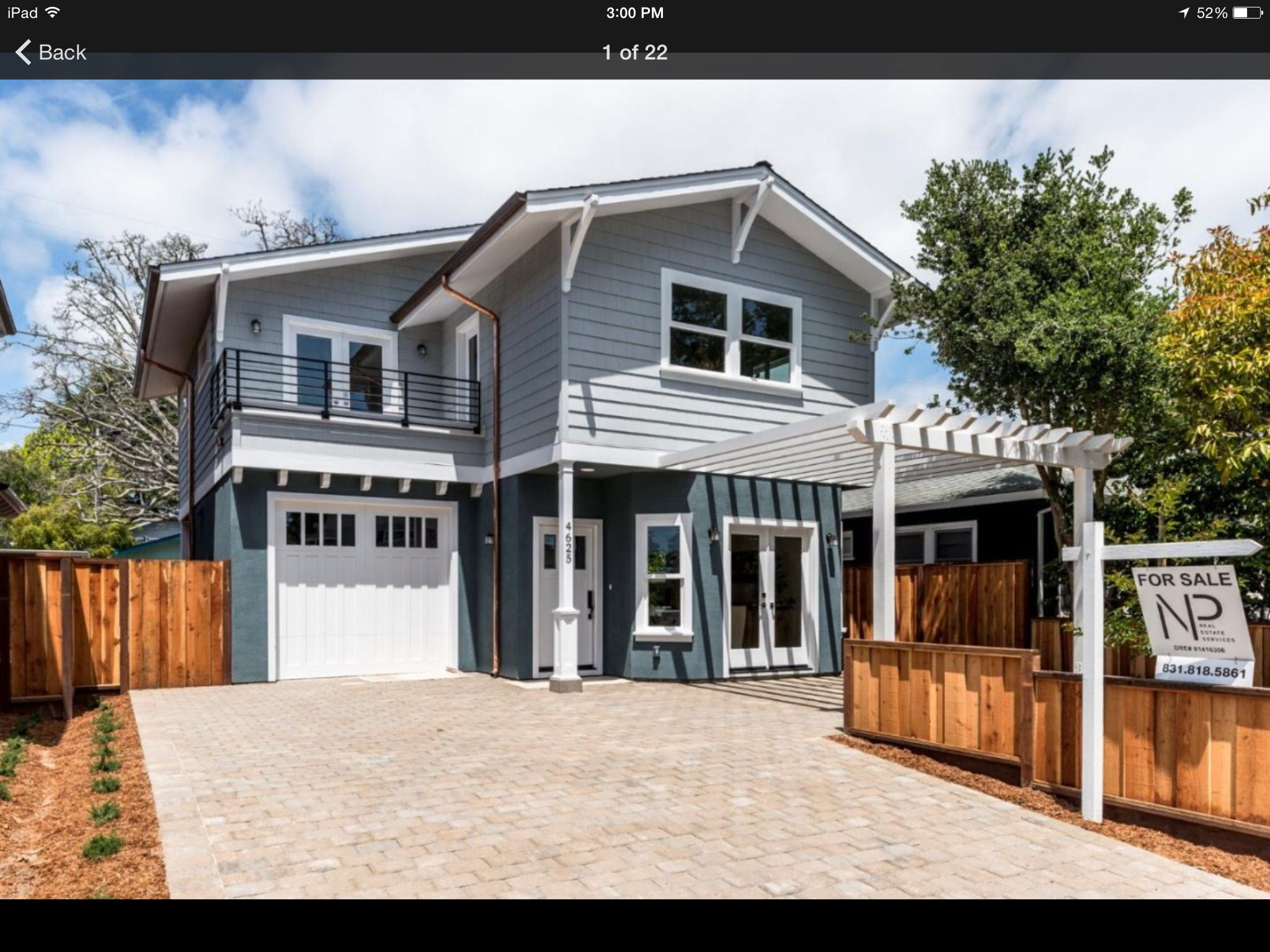 Grey and blue craftsman exterior Beach house