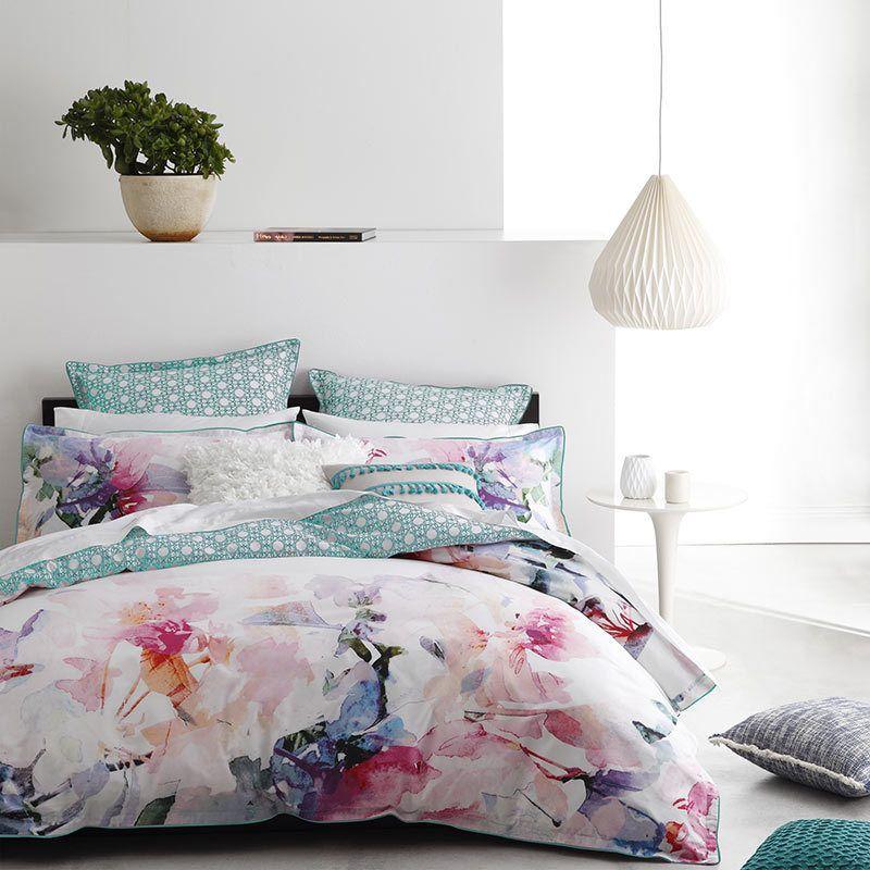 Logan And Mason Juliette Rose Queen Size Bed Doona Duvet Quilt Cover Set Rose Duvet Cover Quilt Cover Sets Quilt Cover
