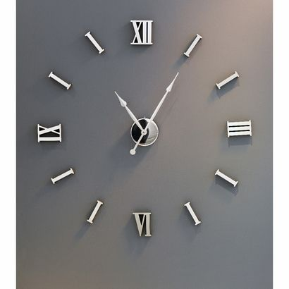 Numbers And Clock Stick To Wall