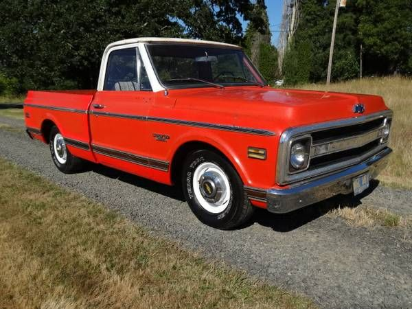 1970 chevy short box pickup 1 2 ton lowered $8500 (oregon