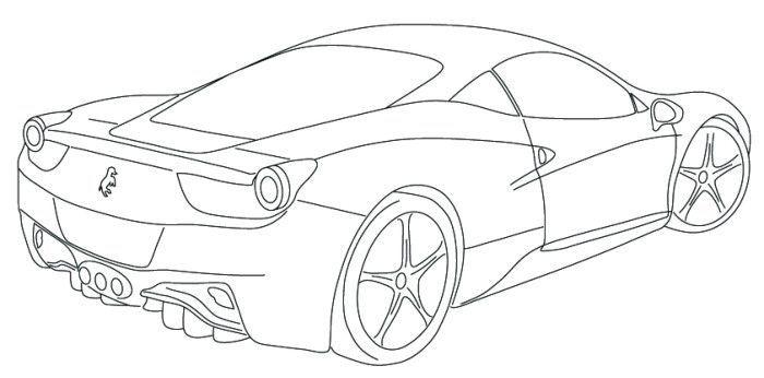 Ferrari 458 Coloring Page Coloring Pages Pinterest Ferrari