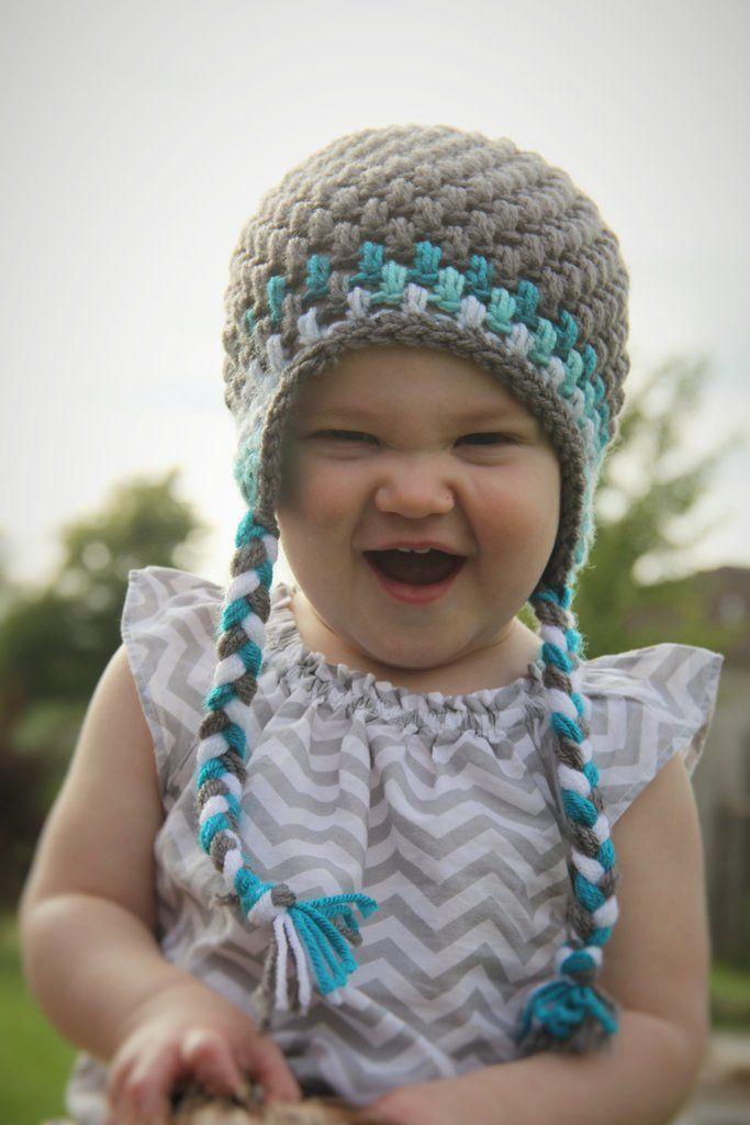 Ear Flap Hats - Small (6 Months - 1 Year) | Crochet Ear Flap Hats ...
