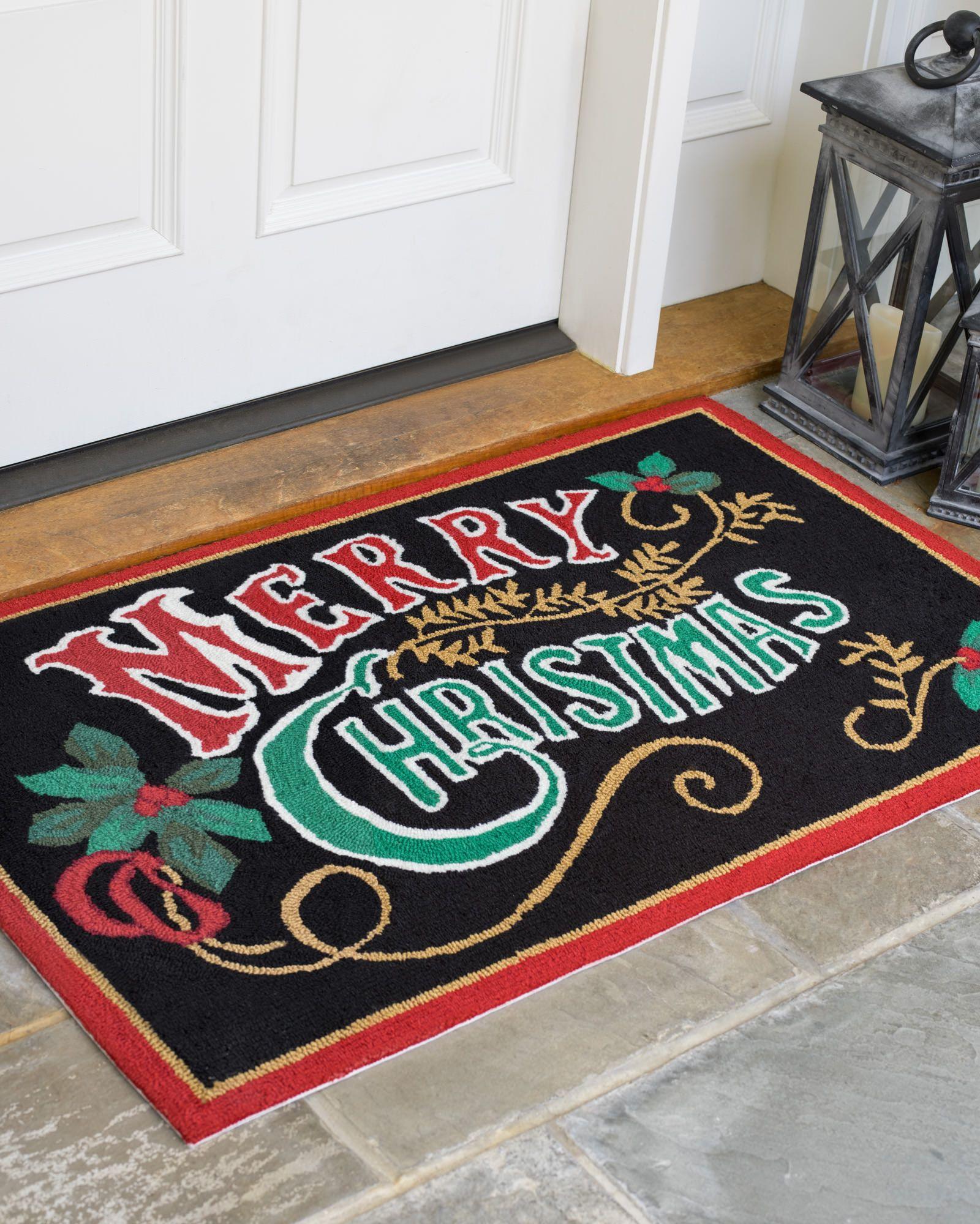 Merry Christmas Indoor Outdoor Rug aff link