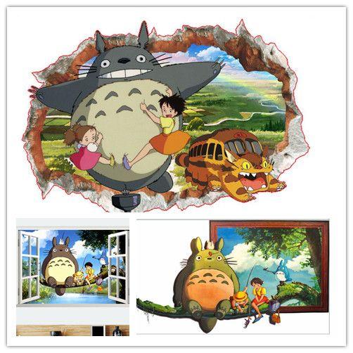 Pas cher Bande dessinée 3D Mon Voisin Totoro mur autocollant - stickers chambre bebe garcon pas cher