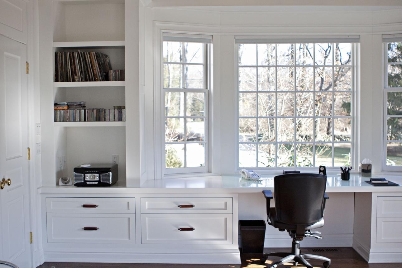 Long Built In Desk Nook Desk Nook Home Office Design Home