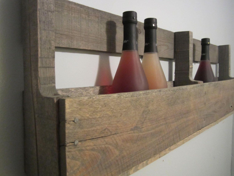 Pallet Wine Rack Barn Wood Finish, Holds 8 Standard Sized ...
