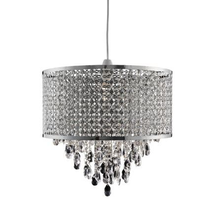 £60 jewelled moroccan large drum easy fit pendant at homebase be inspired and make your house a home buy now