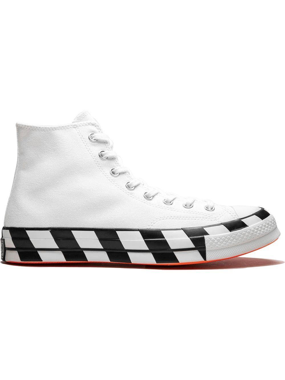 80e007deb18 CONVERSE CONVERSE CHUCK 70 OFF WHITE HI TOP SNEAKERS - WHITE/CONE/BLACK. # converse #shoes