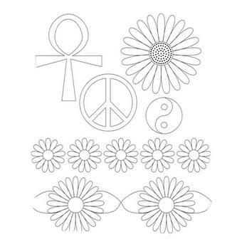 dibujos de flores hippie para colorear | Coloring Pages | Adult