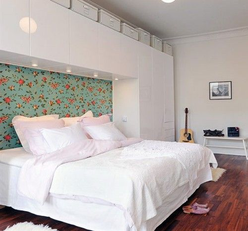 43 Bedrooms Where One Wall Features A Spectacular Wallpaper Patterned Wallpaper Bedroom Bedroom Wallpaper One Wall Bedroom Wallpaper Accent Wall