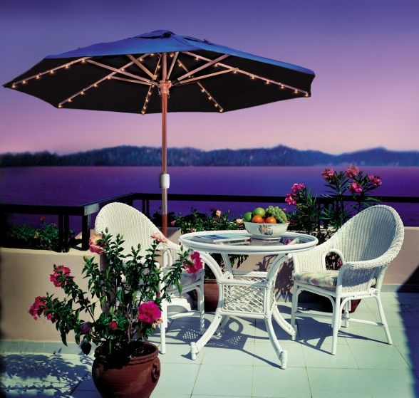 Incroyable Patented Battery Operated Patio Umbrella Lights