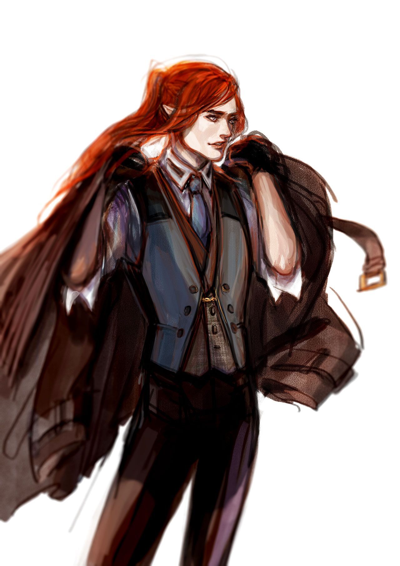 By luaen Modern!Maedhros for maedhrosly. But mostly because I've been wanting to draw Modern AU for such a long time but I didn't think anyone would be interested.silmarillion art blog