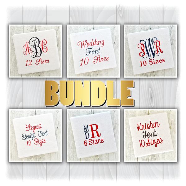 Download Embroidery Fonts Sets Bundle Monogram Packs Packages ...