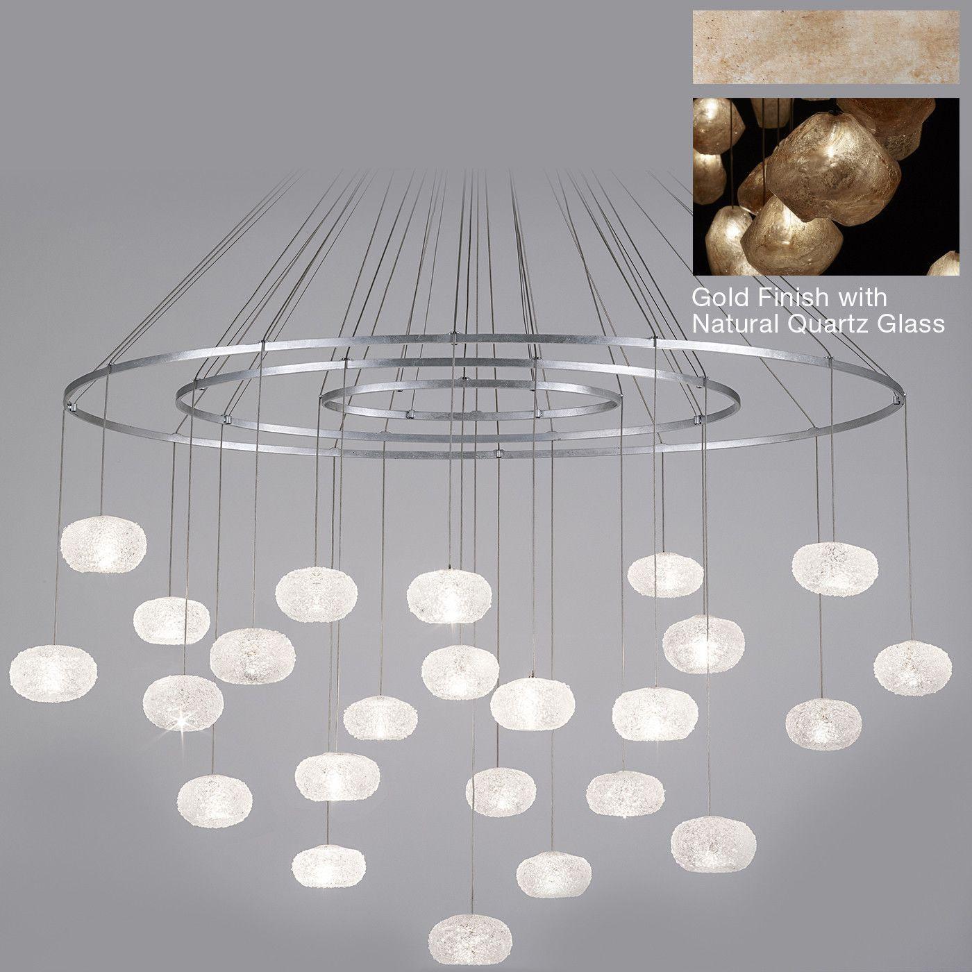Fine art lamps natural inspirations 24 light natural quartz chandelier