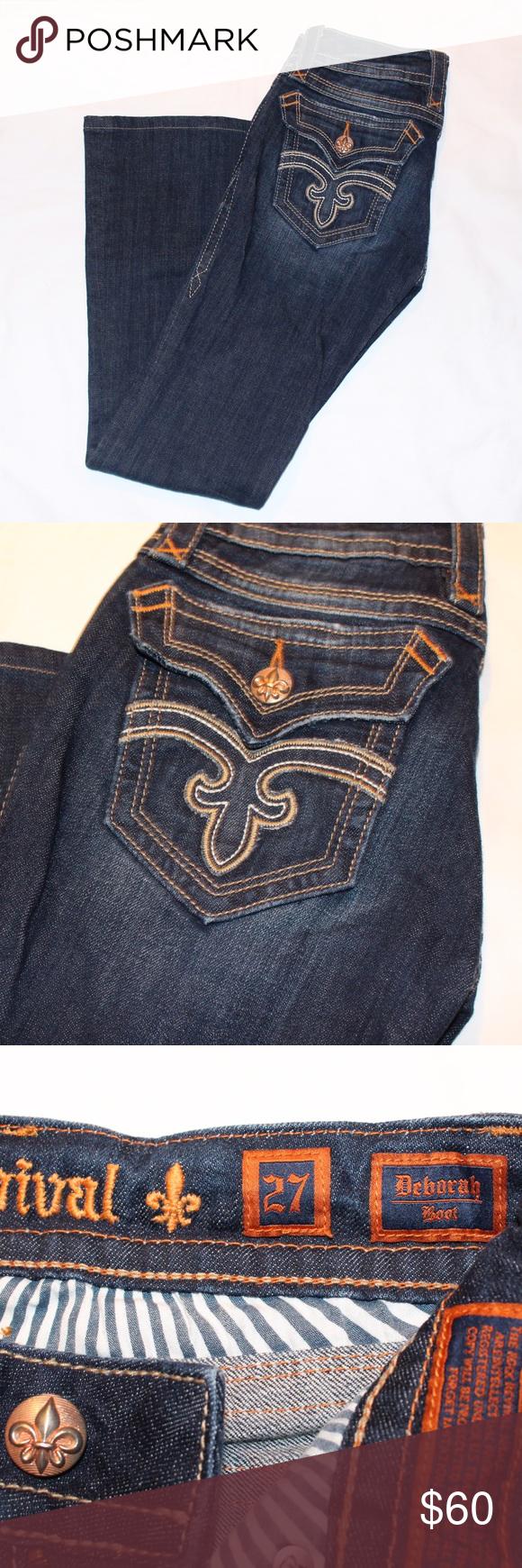Rock Revival Deborah Boots Denim Rich revival Denim. 27 short. Excellent condition. Rock Revival Jeans Boot Cut