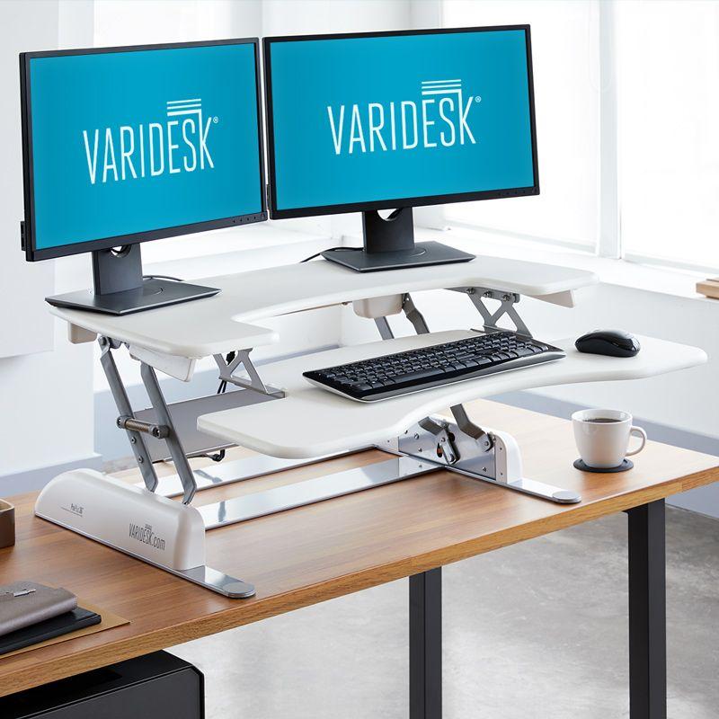 Pro Plus 36 Standing Desk Varidesk White Adjustable Standing Desk Converter