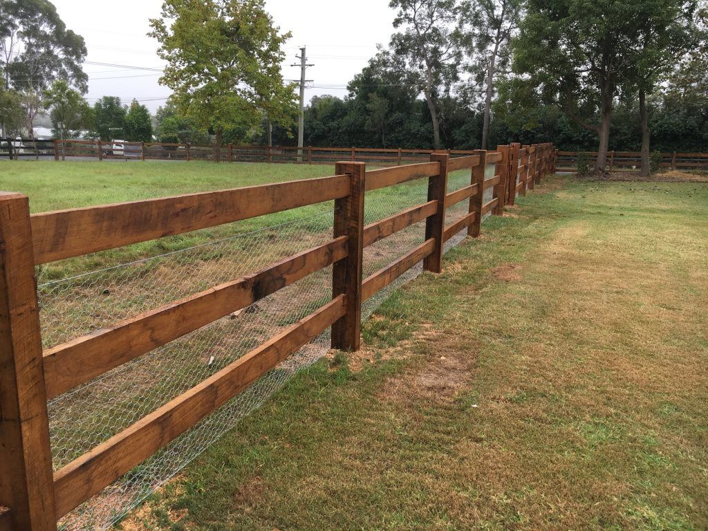 Post And Rail Fencing Rustic Fence