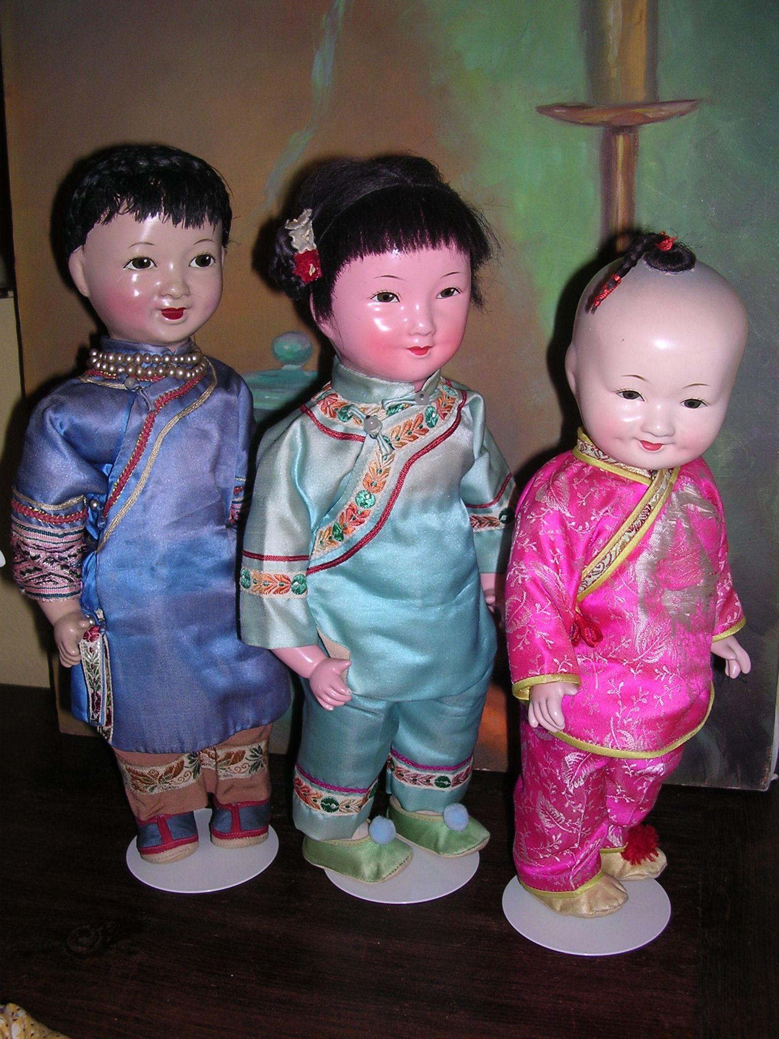 Vintage Chinese dolls circa 19501960's Chinese dolls