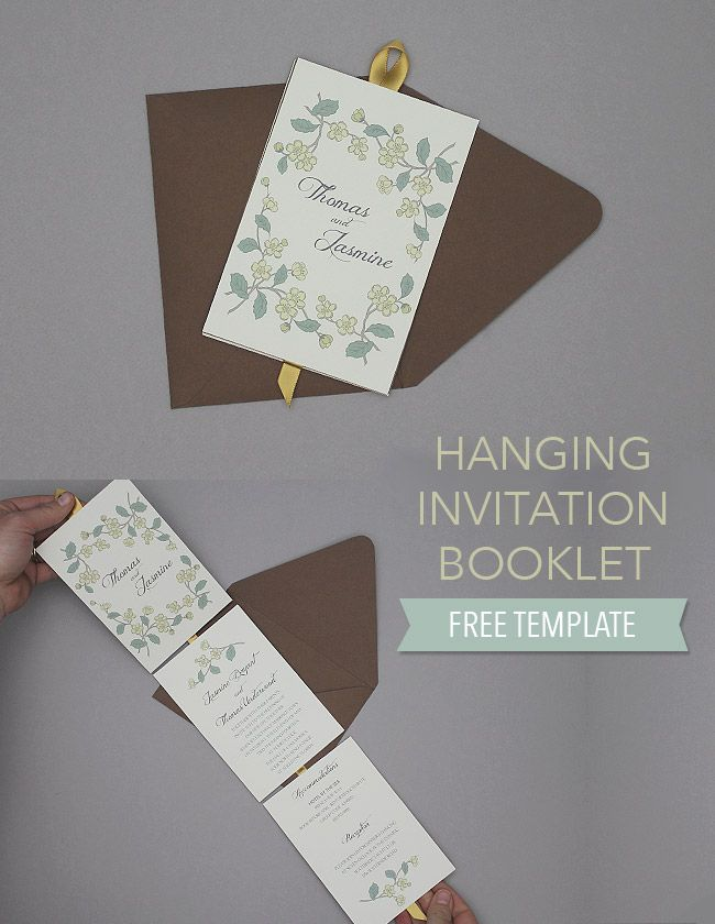 Free Invitation Template Floral Hanging Invitation Booklet