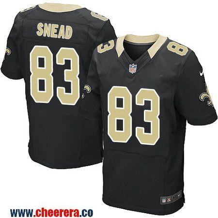 9d01b92b2 Men s New Orleans Saints  83 Willie Snead Black Team Color Stitched NFL Nike  Elite Jersey