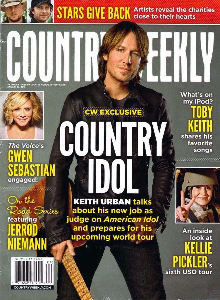 Country weekly keith urban nicole kidman keith urban keith