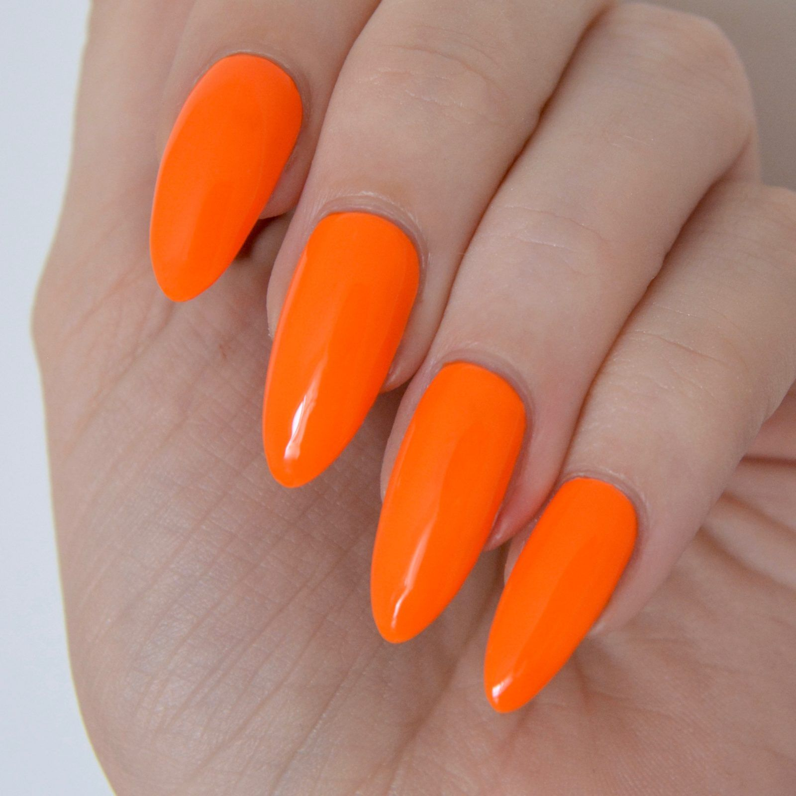 Essie Neon 2017 Review With Swatches | Neon orange nails, Orange ...
