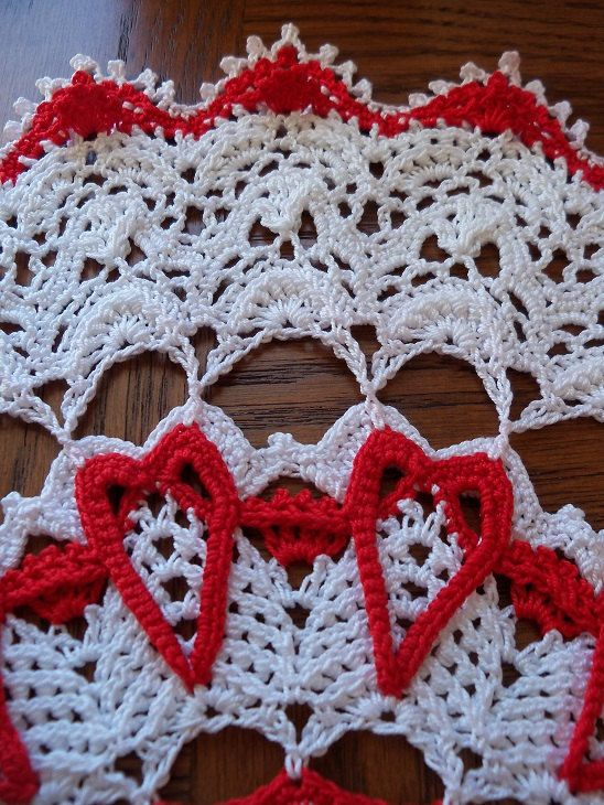INFINITE LOVE, Crochet Doily Pattern, Valentine\'s Day; .pdf ...