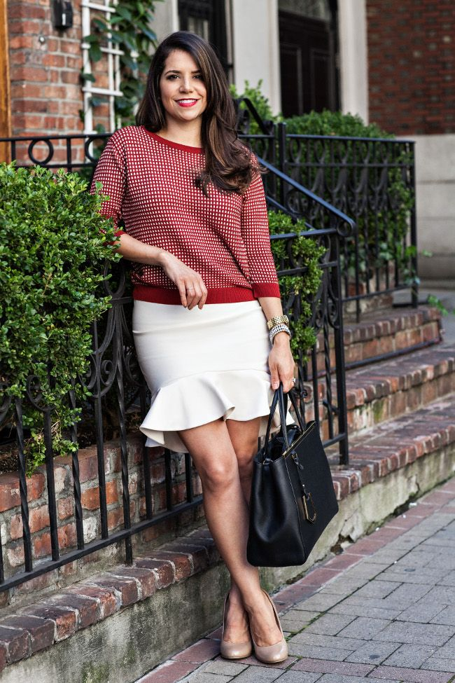 Office Outfit :: Zara Sweater Ihave a similar skirt too..hmm!
