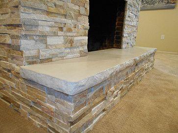 Concrete Hearths   Google Search Color Of Stone And Thickness/rough Edge Of  Stone. BetonkaminInnenkamineFeuerstellen Aus SteinKaminideenKamin ... Photo