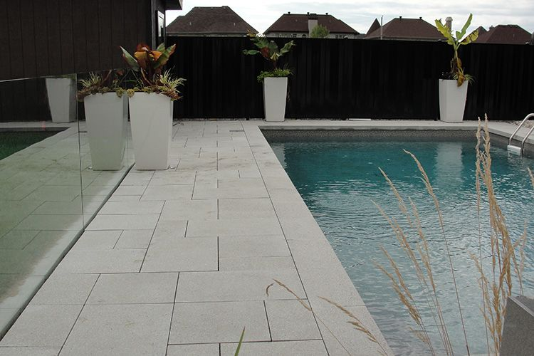 Modern Pool Deck Tiles Montreal Outdoor Living Modern