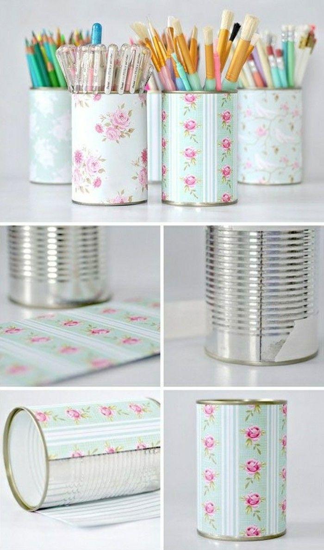 Basteln mit Konservendosen: 61 tolle Ideen dafür! #tincans