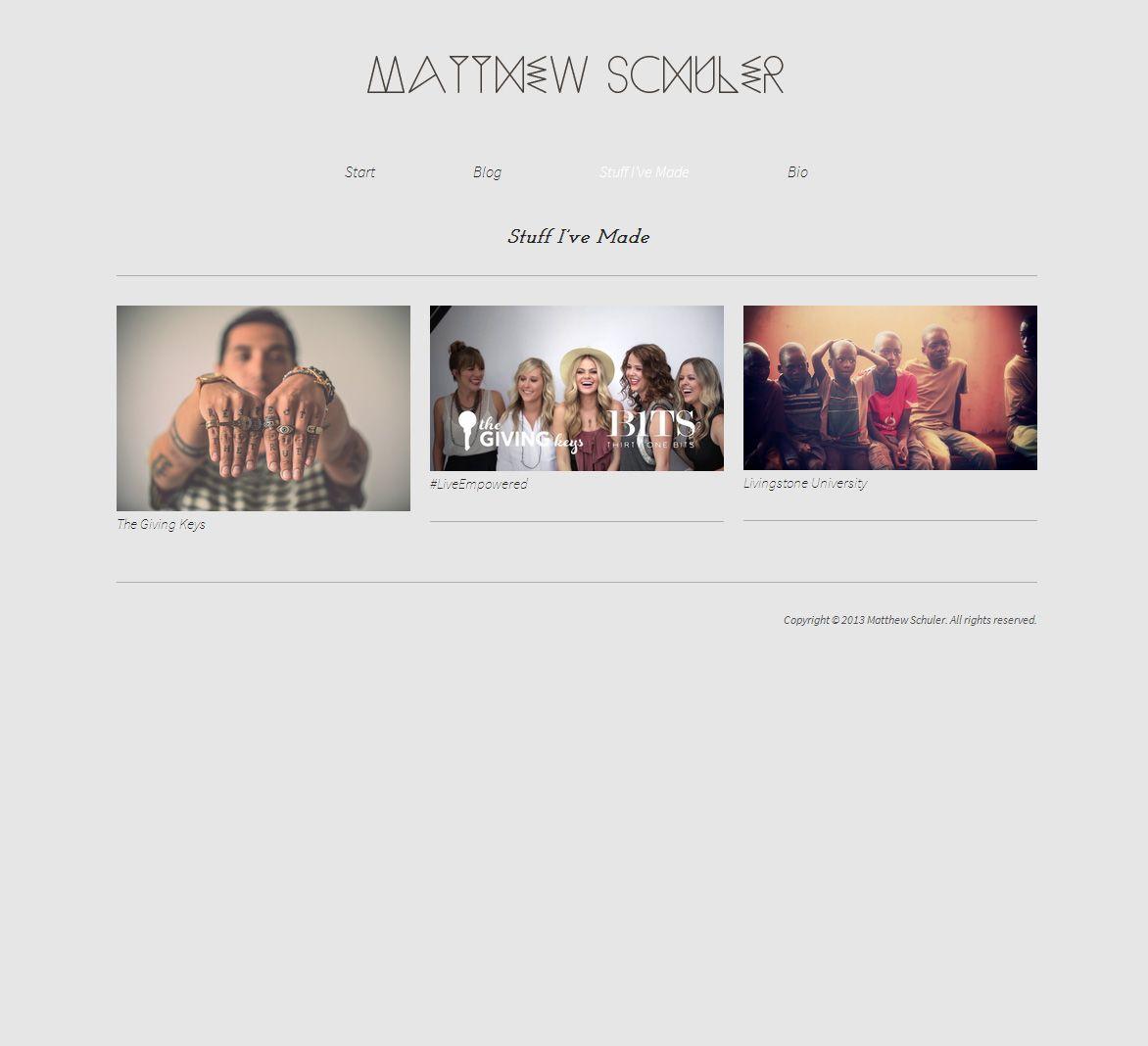 Matthew Schuler website inspiration #graphicdesign #website #websitedesign #design