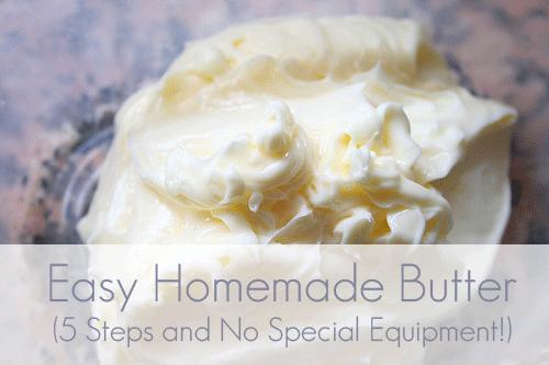 5 Steps to Easy Homemade Butter