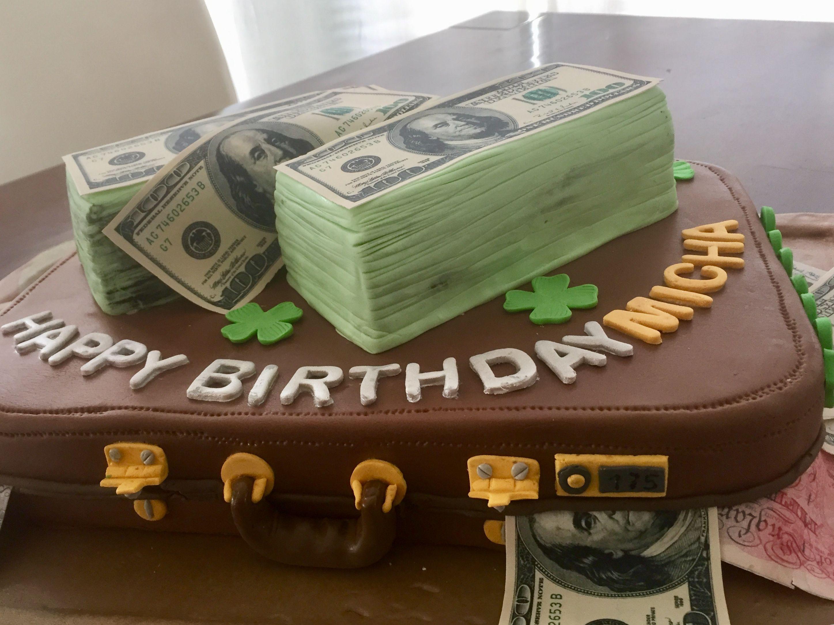 Money Cake Zum Geburtstag Fullung Himbeercreme Und Nougatcreme Himbeercreme Nougatcreme Himbeeren
