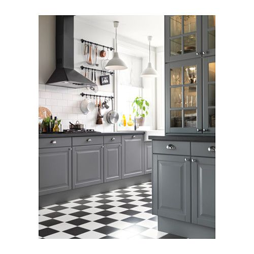 Gray Kitchen Cabinets With Black Appliances: FÅGLAVIK Knob - Chrome Plated - IKEA