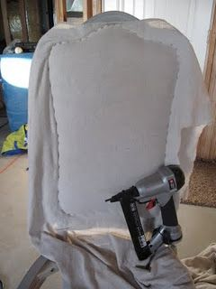 Fantastic tutorial for stripping paint and refinishing dining furniture, and for upholstering dining chairs.  Includes great product suggestions.