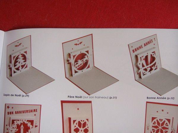 KIRIGAMI cartes de noël | Cartes de noël kirigami, Carte noel
