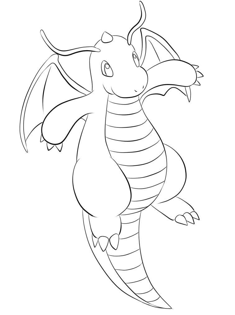 149 Dragonite Pokemon Kleurplaat Pokemon Kleurplaten Eerste
