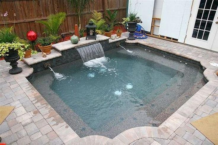 This Unique Swimming Pool Is Seriously An Exceptional Style Procedure Swimmingpool Small Backyard Pools Pools For Small Yards Small Pool Design