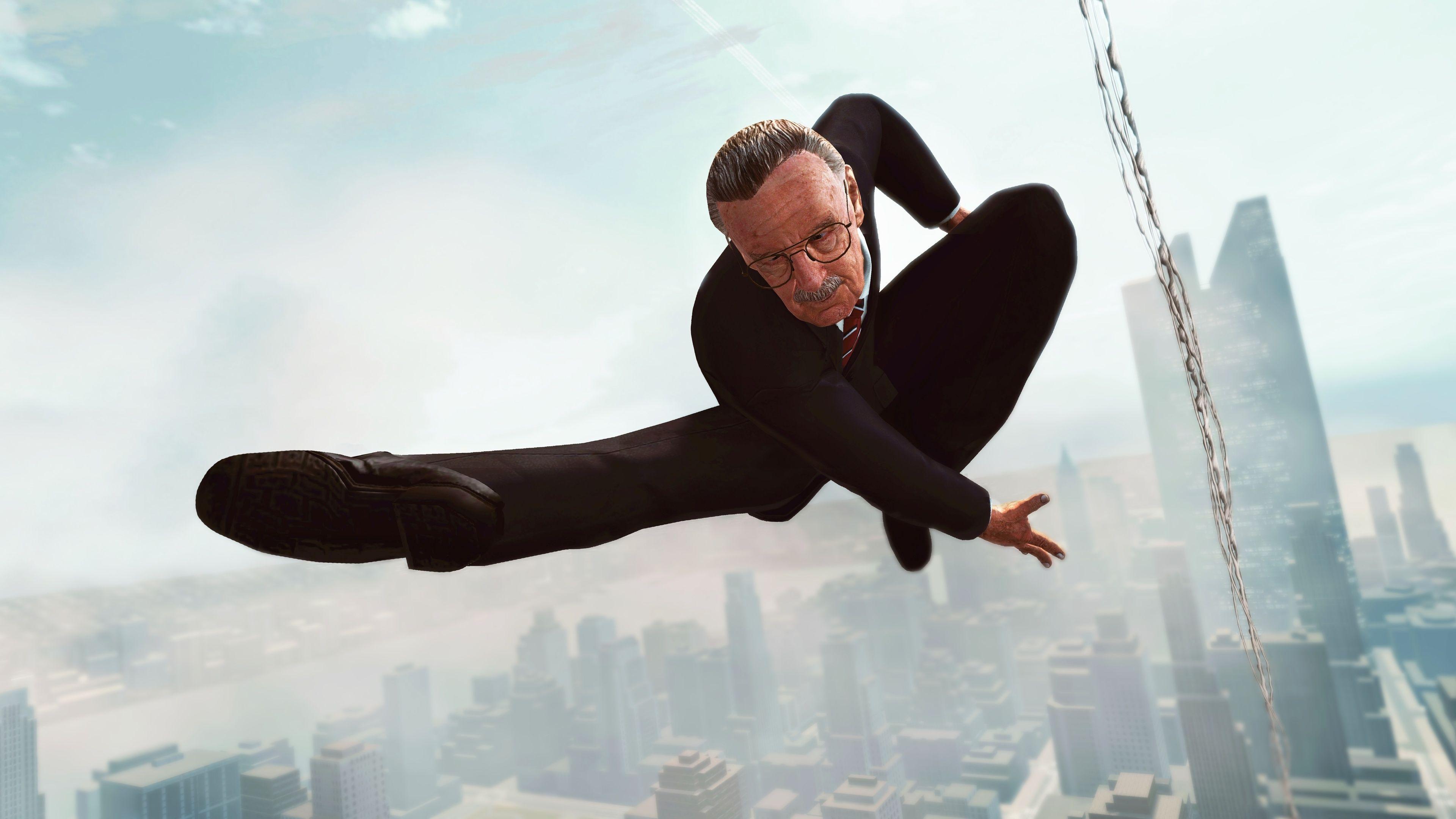 Stan Lee As Spiderman superheroes wallpapers, stan lee