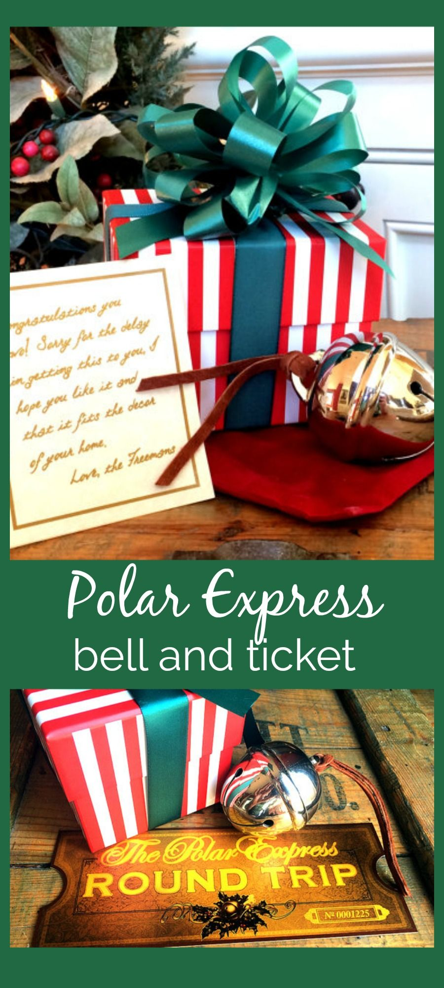 first gift of christmas sleigh bell gift set bringing the polar express to real life i am amazed by this it even comes wit a certificate of authenticity