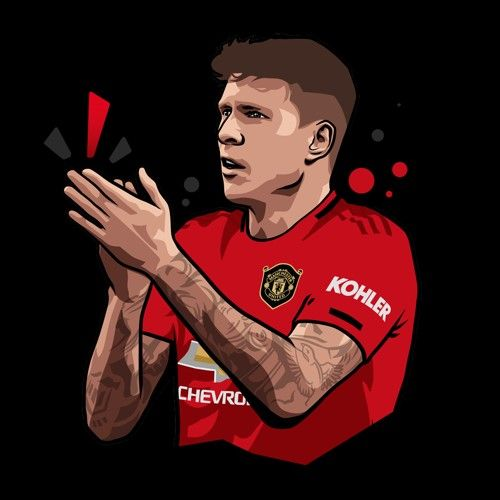 Most Best Manchester United Wallpapers Cartoon Victor Lindelof