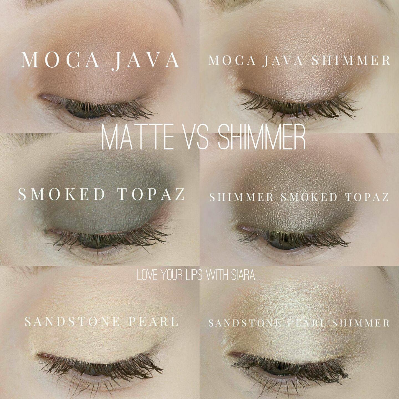 Shadowsense moca java shimmer smoked topaz sandstone Pearl matte