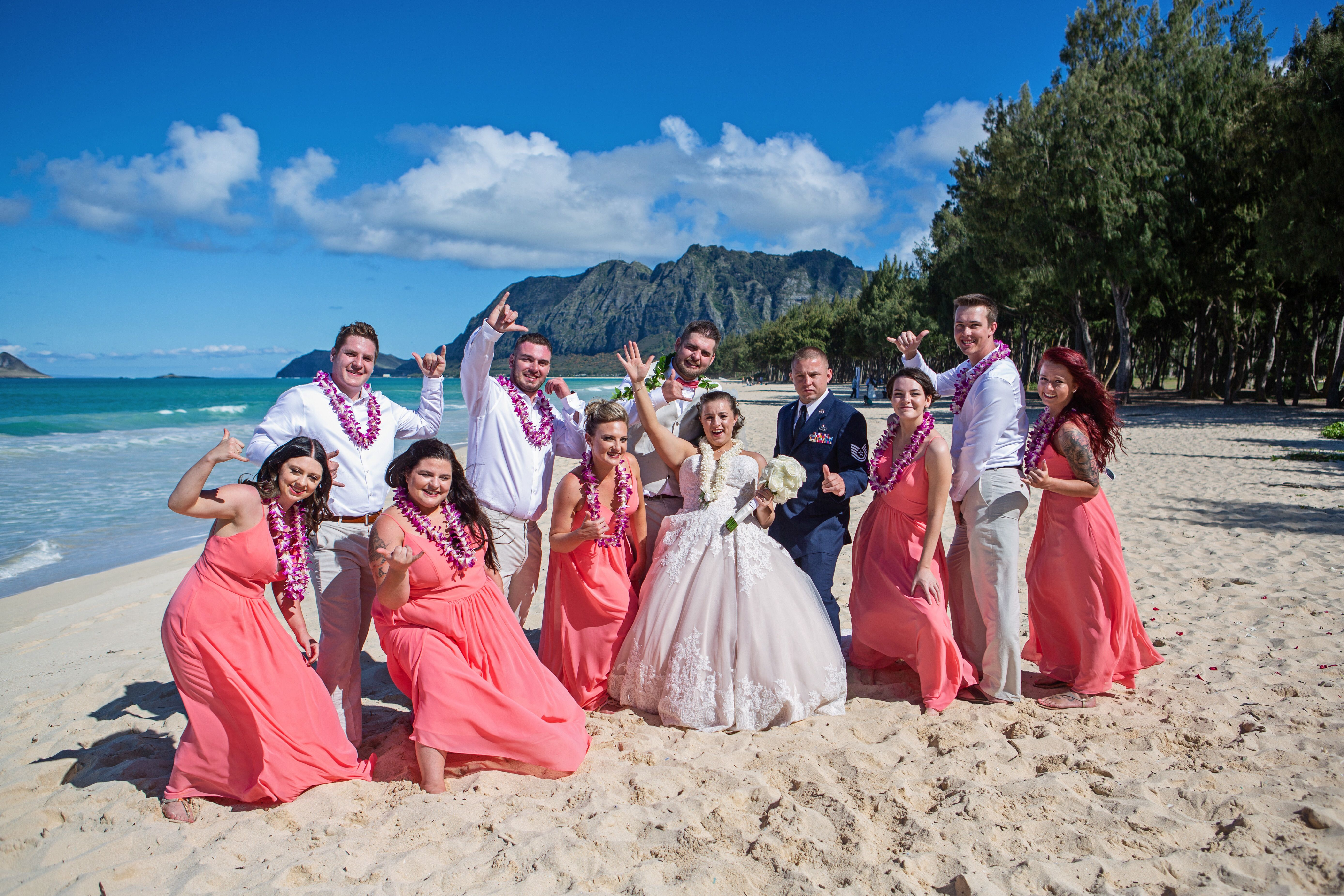 One of Oahu's premier wedding venues Beach wedding