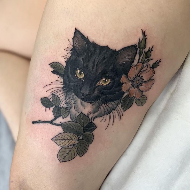 Cat tats! thanks so much Stephanie 🐱 hoping to see allll the pet portraits when I open my books on Sunday 🤞🏼🤞🏼🤞🏼 - Tattoo Style