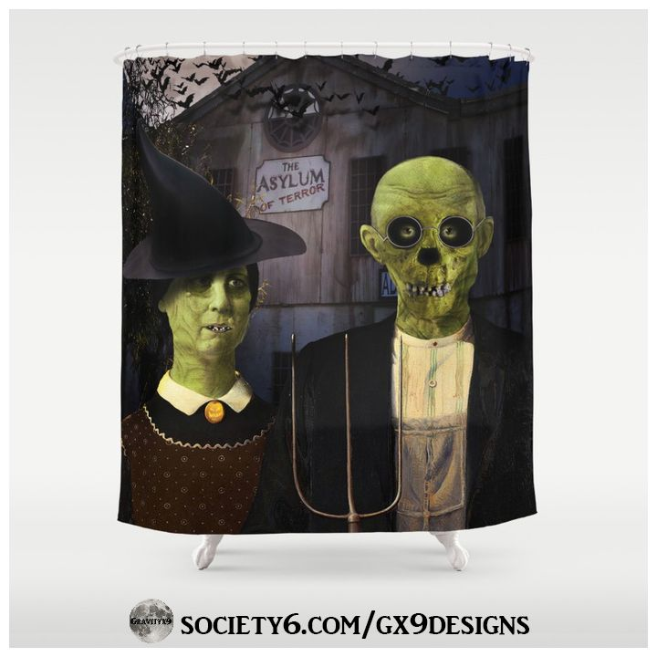* American Gothic Halloween Shower Curtain by #Gravityx9 # ...