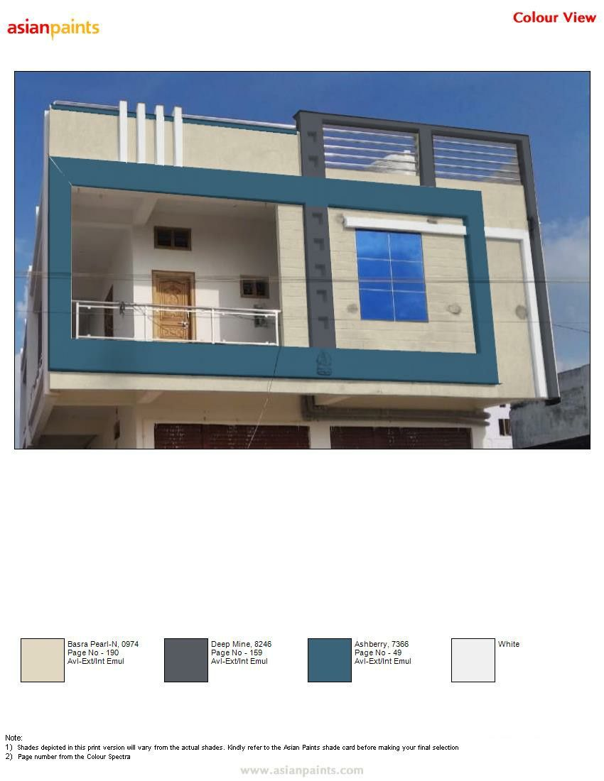 Pin By Ravi Kumar On Top 200 Asian Paints Color Views Exterior Color Combinations House Paint Exterior House Paint Color Combination