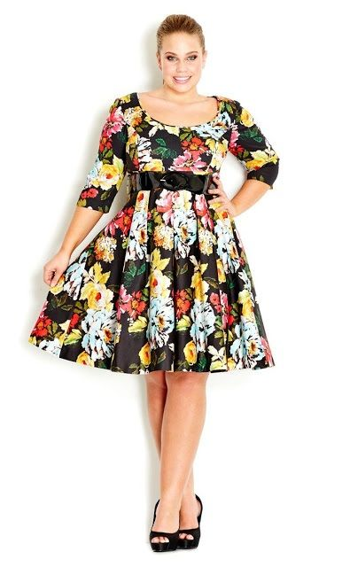 Imagenes de vestidos floreados para gorditas